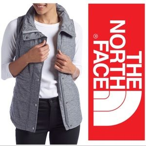 Women's North Face Pseudio Quilted Grey Vest